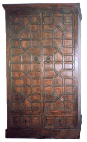 Rajasthan Wooden Almirah, Indian Wooden Crafts, Indian Furniture, Almirah from India